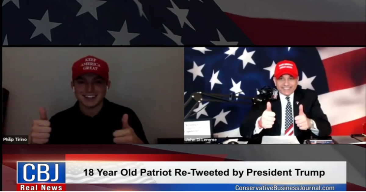 18 Year Old Retweeted by Trump - Conservative Business Journal - John Di Lemme