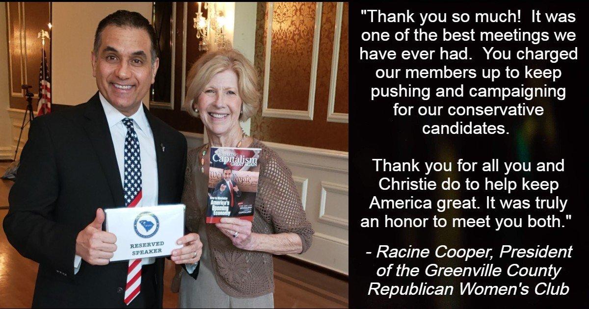 Racine Cooper - Greenville County Women's Republican Club - John Di Lemme
