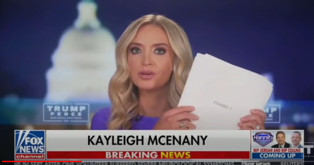 Kayleigh McEnany - Trump - Election Fraud Affidavits