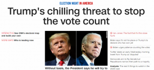 Trump Said Stop Voting Not Counting Votes - CNN Lied - Conservative Business Journal