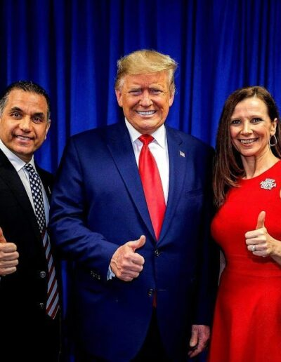 John & Christie Di Lemme, Founders of the Conservative Business Journal, with President Trump