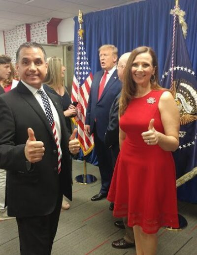 John & Christie Di Lemme with President Trump