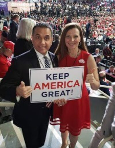 John & Christie Di Lemme at Trump Rally